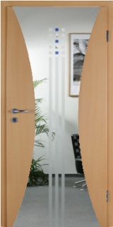 PRÜM-Tür INTARSIA SWING-1/LA BUCHE